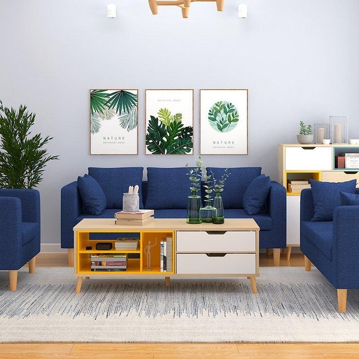 布藝沙發現代簡約 小戶型客廳沙發整裝家具套裝經濟型雙人組合【優品城】