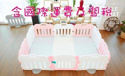 BabyWeather韓國代購售價含運 Caraz正品遊戲圍欄10片套組(9片圍欄+1片門)無地墊