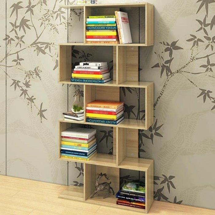 現貨/簡約現代書櫃書架組合組裝學生小書架簡易辦公室收納置物架落地65SP5RL/ 最低促銷價