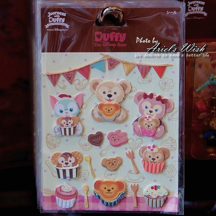 Ariel's Wish-日本東京迪士尼Duffy Shelliemay達菲熊雪莉玫傑拉東尼情人節甜點相簿裝飾立體貼紙