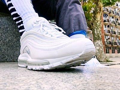 NIKE AIR MAX 97  全白 白灰 子彈 白底 3M 反光 氣墊 慢跑 921826-101 男女鞋