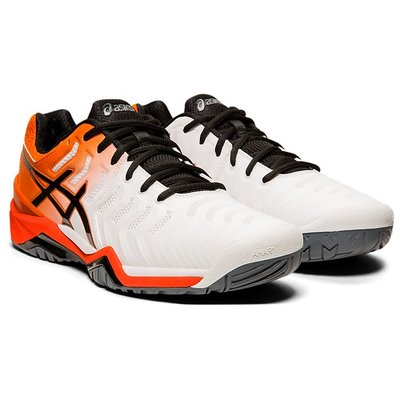 ASICS 19FW 男網球鞋 Resolution 7系列 E701Y-100 贈護腕【樂買網】