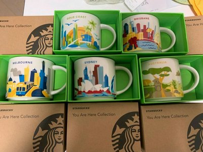 Starbucks Mugs 澳洲一套五個  you are here collection