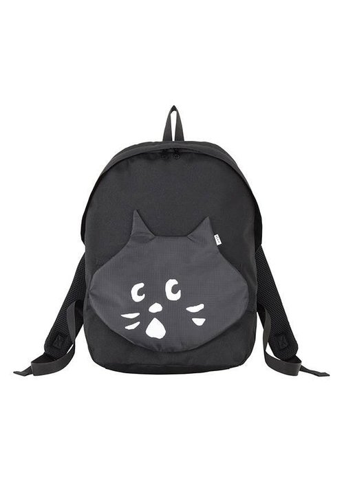 日本 Ne-net 新款可拆式貓咪大頭口袋造型後背包 登山包