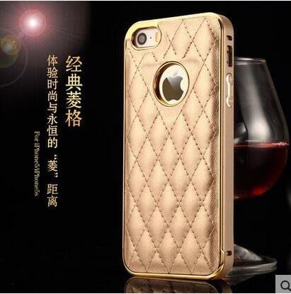 新款蘋果5手機殼 5s金屬邊框 iphone5s手機殼5s手機套外殼 真皮 905