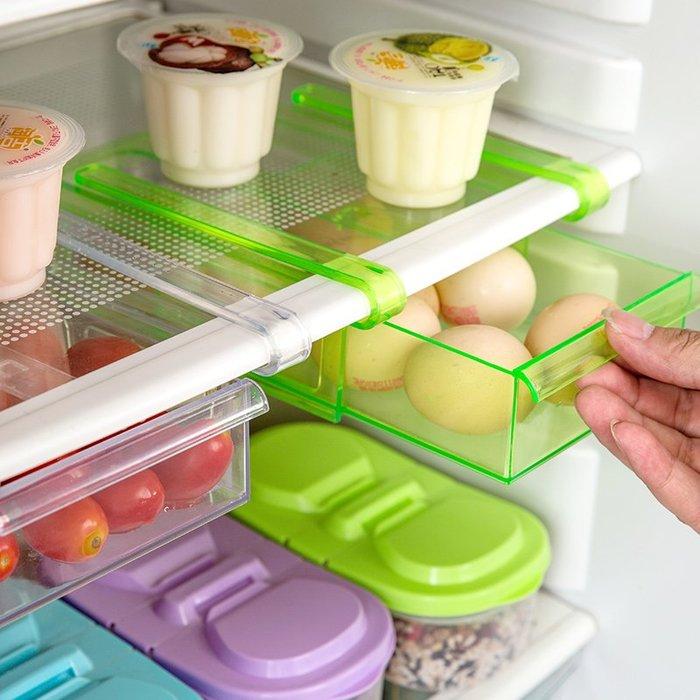 創意 廚房 收納居家家冰箱隔板層收納架廚房用品用具保鮮掛架多用收納架子置物架