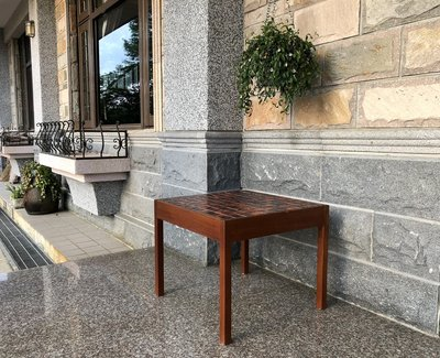 Teak Table with Ceramic Tile