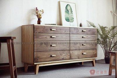 [紅蘋果傢俱]MJ001 北歐日式 實木傢俱 八斗櫃 抽屜櫃 餐邊櫃 客廳 臥室 儲物 收納櫃