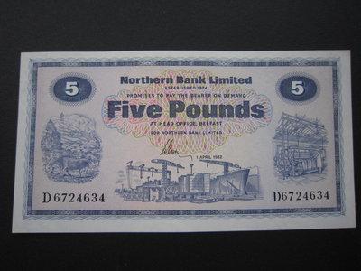 北愛爾蘭 Northern Bank Limited (1982) 5 pound.