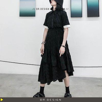 9/9新品►DR.DESIGN│DR31611特價-小眾暗黑系 顯瘦 收腰 設計感 不規則裙襬 蕾絲蛋糕裙 洋裝