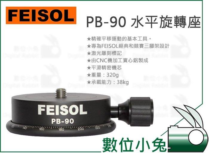 數位小兔【FEISOL PB-90 水平旋轉座】配件 底座 相機平移 承重38kg CT-3371 CT-3471