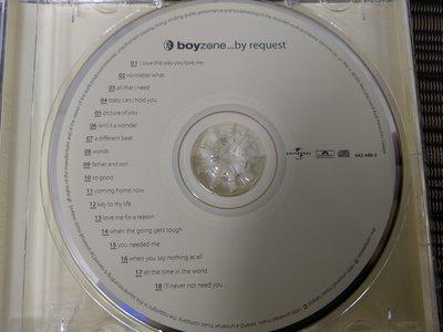 原版CD-Boyzone男孩特區合唱團-By Request最愛精選(非 蔡琴)NW
