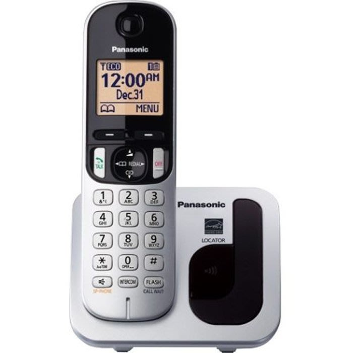 【101-3C數位館】 Panasonic 國際牌數位DECT 無線電話 KX-TGC210 (送充電電池)