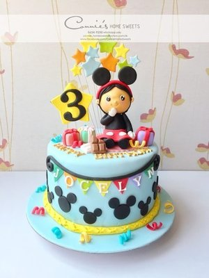 【Connie's Home Sweets】Little girl cosplay Mickey Mouse 生日蛋糕 Birthday Cake 百日宴蛋糕 米奇老鼠