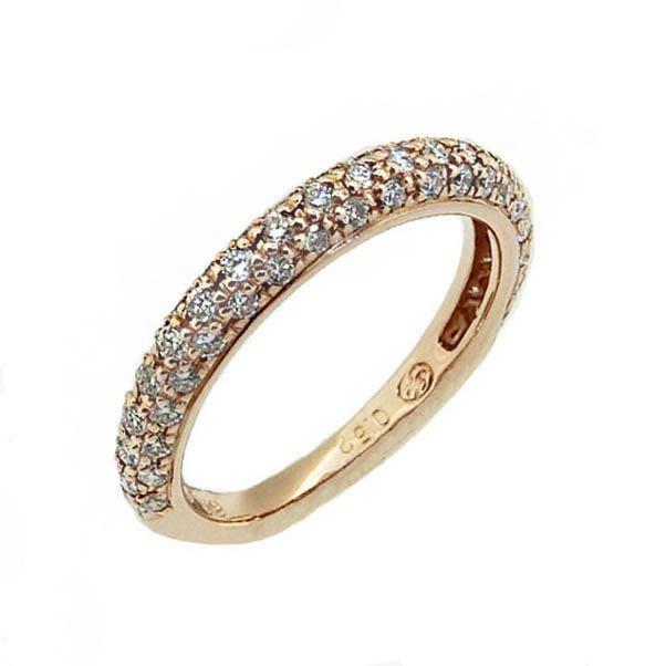 【JHT 金宏總珠寶/GIA鑽石專賣】0.52ct天然鑽石線戒/材質:18K(JB42-A07)
