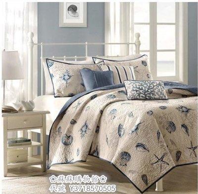 ❀蘇蘇購物館❀美式床蓋 全棉衍縫被空調被夏涼被 绗縫被純棉三件套 床蓋毯子