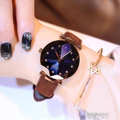 新款女士手錶女學生韓版簡約時尚潮流休閒大氣防水鑚ulzzang