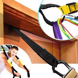 多功能健身門扣門檔固定繩門夾拉把固定器適用懸吊訓練繩懸掛訓練帶門上拉繩瑜珈伸展帶拉力繩拉力帶C109-5157【推薦+】