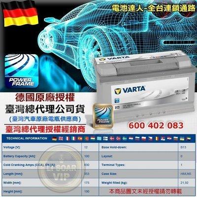 德國華達 VARTA 電瓶 (H3 100AH)電池 BMW 520 525I 528I 535I C230 C240