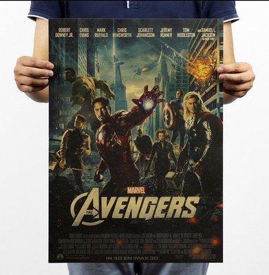 【貼貼屋】(超清) 復仇者聯盟 Avengers 鋼鐵人 美國隊長 牛皮紙 壁貼 電影海報 懷舊復古 384