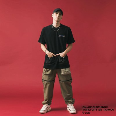 【車庫服飾】ON AIR 2019 S/S 短 t 機能口袋抽繩 短袖 T恤 現貨