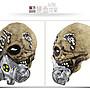 暖暖本舖 生化人頭套 骷髏頭 防毒面具 超逼真喪屍面具 智障面具 嚇人面具 整人面具 萬聖節道具 惡搞專家 整人專家胡真