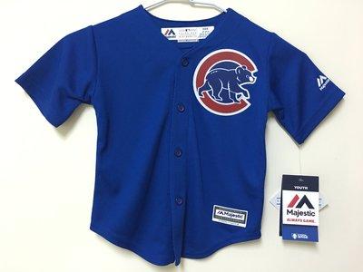 MLB 美國職棒大聯盟 芝加哥小熊隊 藍色 棒球衣 小童版 Majestic Chicago Cubs