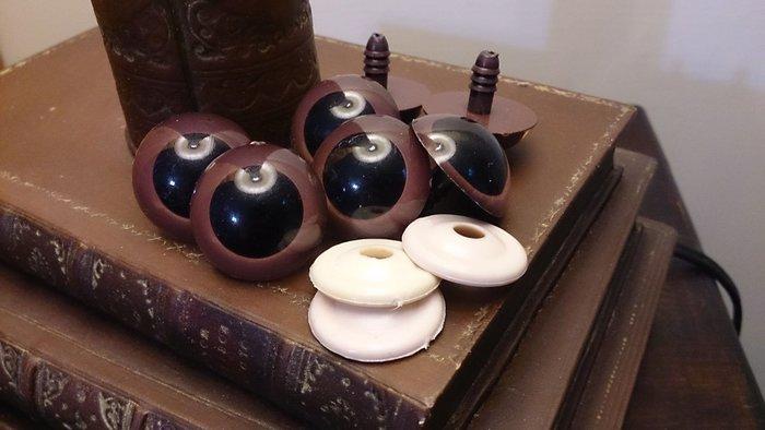 布偶水晶眼睛 咖啡 深咖啡 : 材料 布偶 眼睛 眼珠 水晶 娃娃 填充  製作