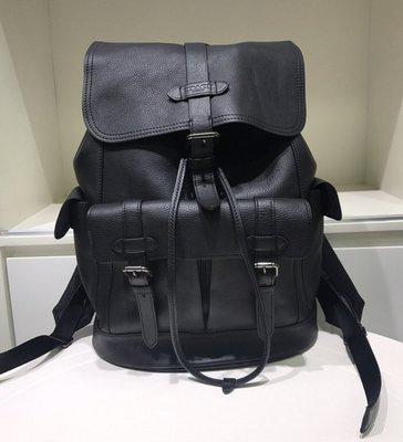 COACH 23202 Hudson Backpack 新款 男士 素面全皮 登山後背包 多口袋