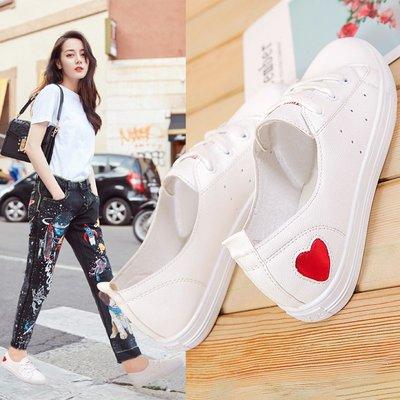 運動鞋 休閒鞋韓范兒小白鞋女夏季新款淺口透氣休閑板鞋百搭韓版平底白鞋子