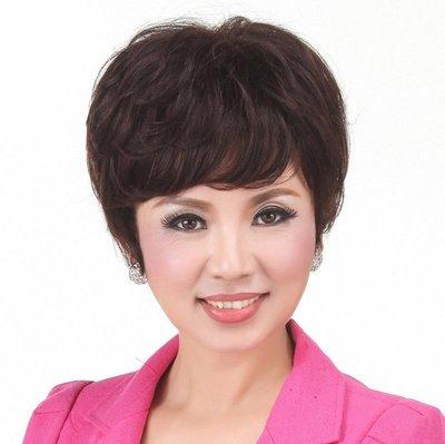 水媚兒假髮ZMF012HH♥新款女士真髮 輕盈蓬鬆 送媽媽 禮物 短髮♥ 預購 團購批發