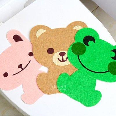 【可愛村】可愛動物不織布馬桶裝飾貼紙 壁貼 馬桶貼紙