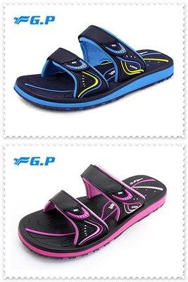 {拾在便宜}-免運費- G.P 啟蒙 親子 大童 女鞋 高彈性 雙帶拖鞋 羅馬 女鞋 G8548BW-15 -20藍