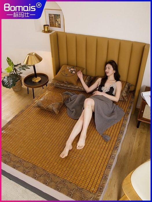爆款熱銷-夏季麻將席涼席1.5米1.8m床墊折疊1.2米竹席床席子單雙人學生宿舍