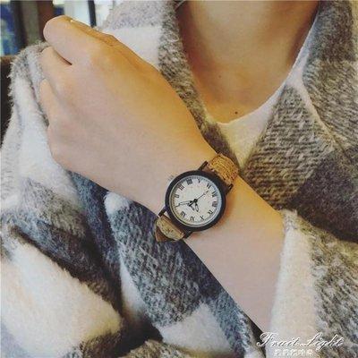 ☜男神閣☞情侶手錶休閒復古學院風森系森錶