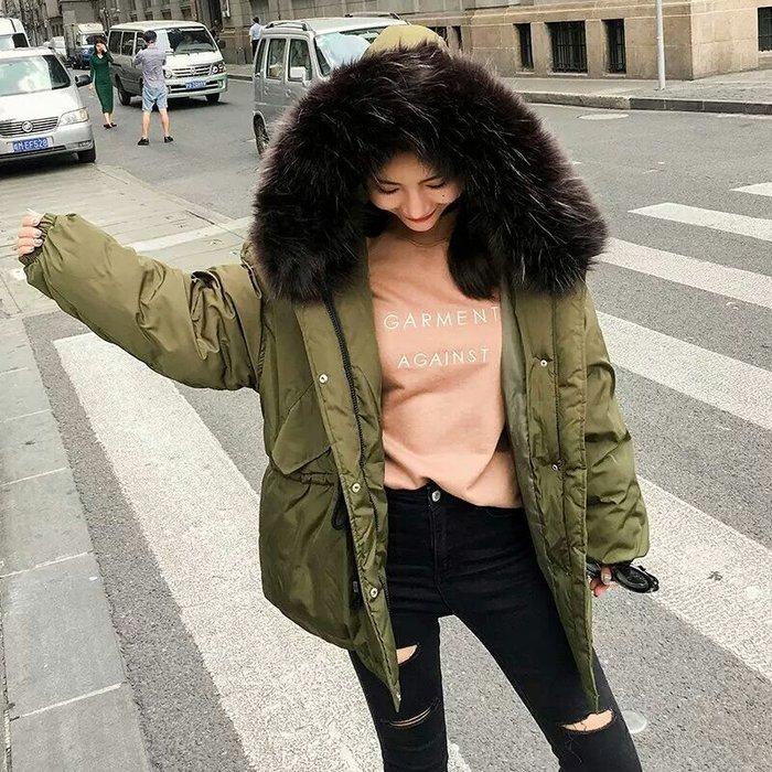 【爆炸蓬鬆毛領實拍🔥】韓 羽絨棉外套 超大毛領 爆炸可愛 學生感十足外套【四色S~2XL】