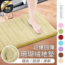 現貨!珊瑚絨吸水地墊 止滑墊 腳踏墊 室內地毯 防滑墊 記憶地墊 浴室廚房地墊 加厚地墊 可機洗
