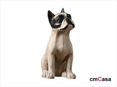 = cmCasa = [5263]美式復古人文設計 復古鬥牛犬雕像擺飾 人文意境新發行