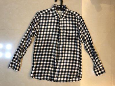 ︱Coopers︱Lativ Flannel 黑白格紋法蘭絨襯衫 Size: S (Uniqlo)