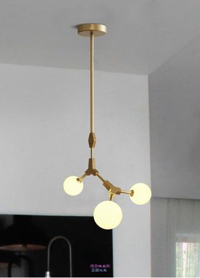 1800{鴻發精品}北歐式客廳燈具美式藝術餐廳吧臺臥室鐵藝樹枝魔豆吊燈