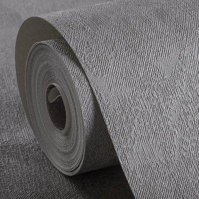日和生活館 復古仿水泥灰色工業風服裝店現代簡約理髮店PVC壁紙純色素色牆紙 S686