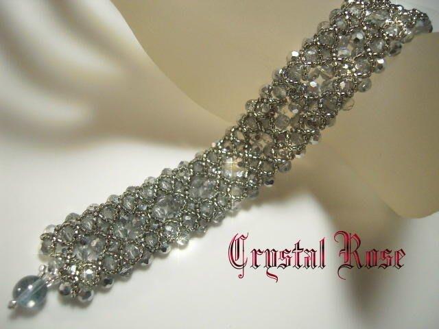 ※水晶玫瑰※ 韓國~璀璨琉璃手鍊(HAND5)~雙面皆可配戴