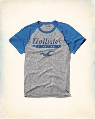 【Hollister Co】Raglan Logo Graphic Tee 短T--現貨M