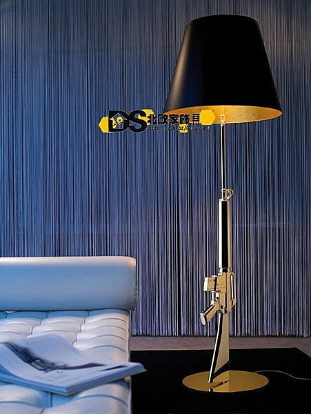 DS北歐家飾§ loft工業風格設計師復刻FLOS Gum Lamp創意造型狙擊獵槍落地燈 立燈 ak47 生存遊戲