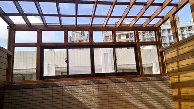 頂樓。玻璃屋。透光、遮陽、低聲響、隔熱、採光罩【園匠工坊】免費到府估價