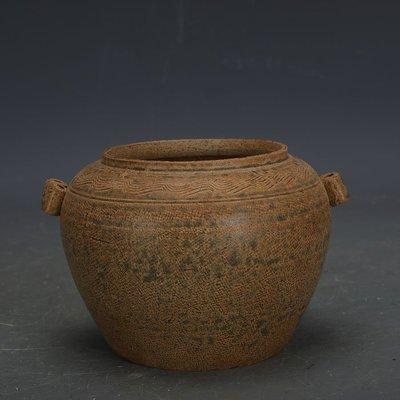 ㊣姥姥的寶藏㊣ 戰國越窯原始青瓷雙系罐子  出土文物古瓷器手工瓷古玩古董收藏品