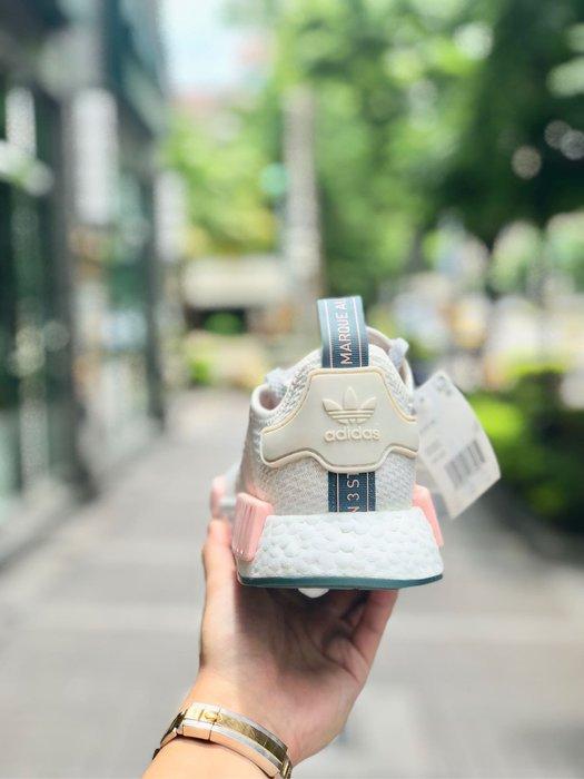 info for 127c1 627dc 【Cheers】 Adidas NMD R1 白粉 粉紅色 全白 綠底 粉嫩 裸粉 粉白 粉色 女 女神鞋 D97232-Yahoo奇摩拍賣