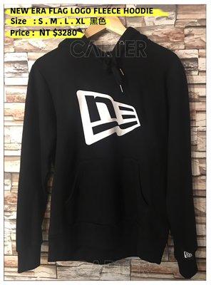 New Era Flag Logo Fleece Hoodie NE logo 黑色NE Logo 帽T