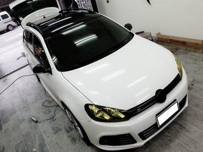 福斯 Volkswagen Golf wagon 車頂貼膜 車頂包膜 旅行架貼膜 Tiguan Touran GTI
