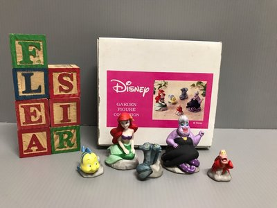 【FleaSir】出清特賣 迪士尼小美人魚 愛麗兒烏蘇拉小比目魚賽巴斯汀電鰻 盒裝 公仔場景擺飾  G35